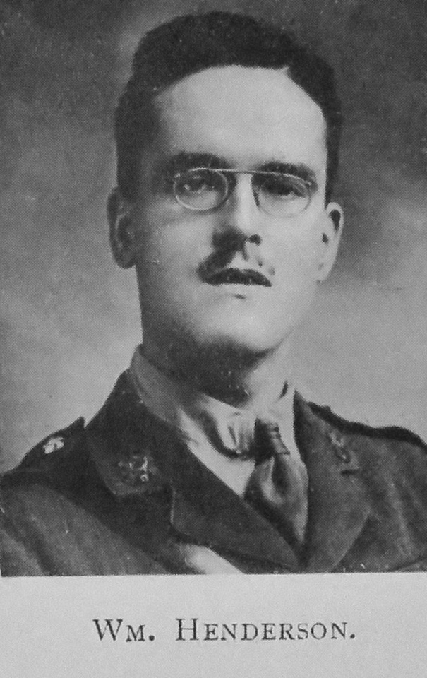Henderson W 2nd Lt 1st And 14th Highland Light Infantry