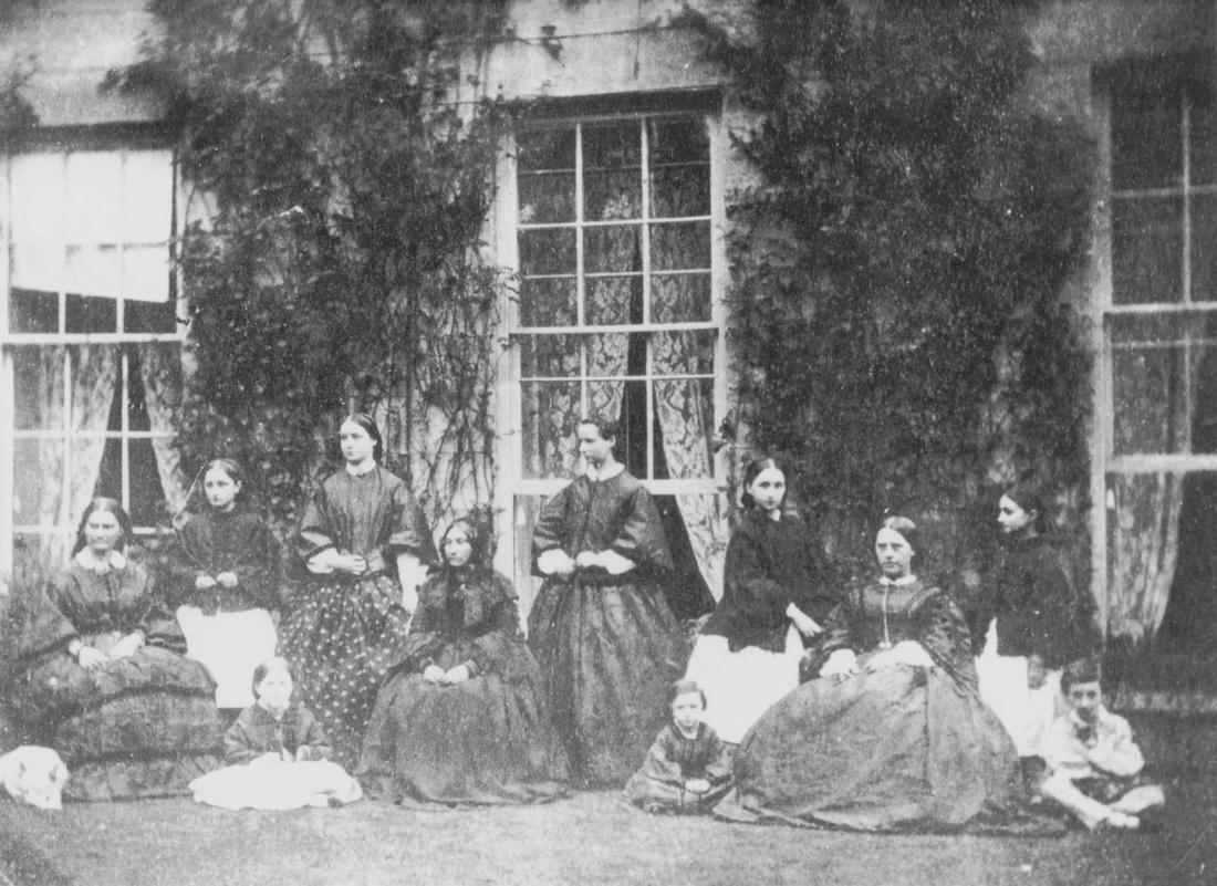 The Denshire Family Outside Ashtead House 1861