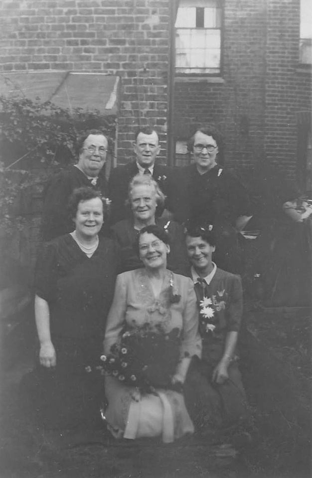1940s Bride With Family