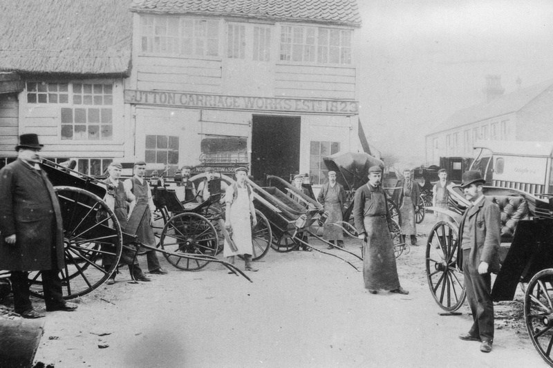 Leedings Coach Builders Sutton High Street c1904