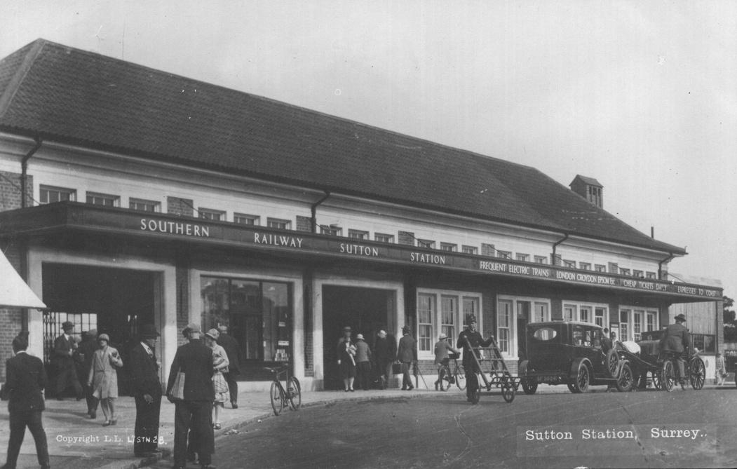 Sutton Station 1940s