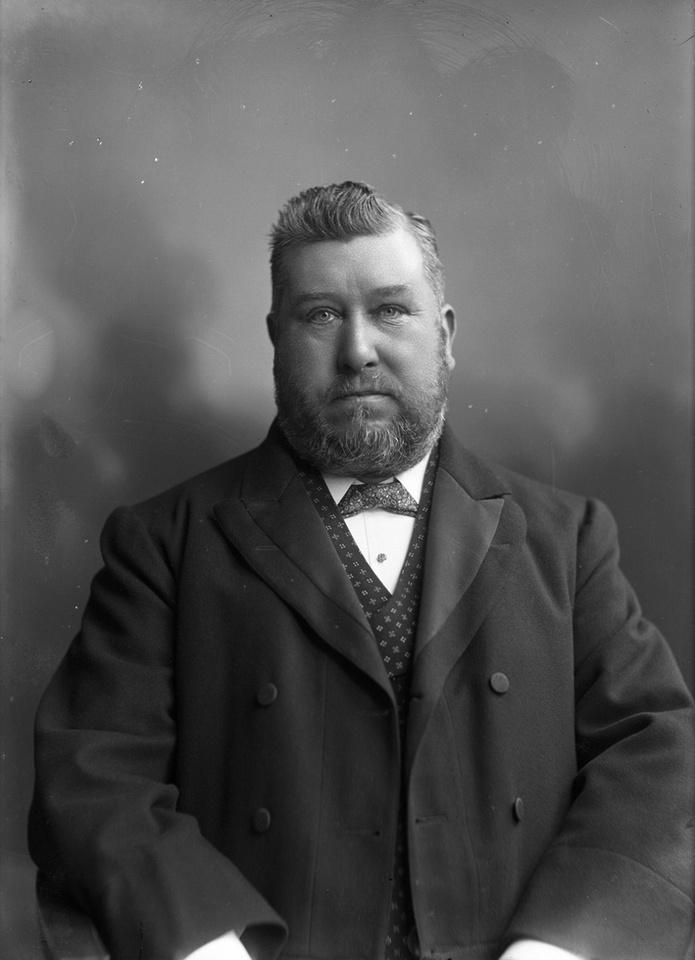 Charles Gardner Station Master at Sutton Station Taken On 8th May 1905
