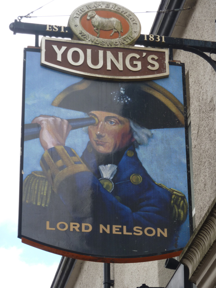 The Lord Nelson Pub Sign Lower Road Sutton