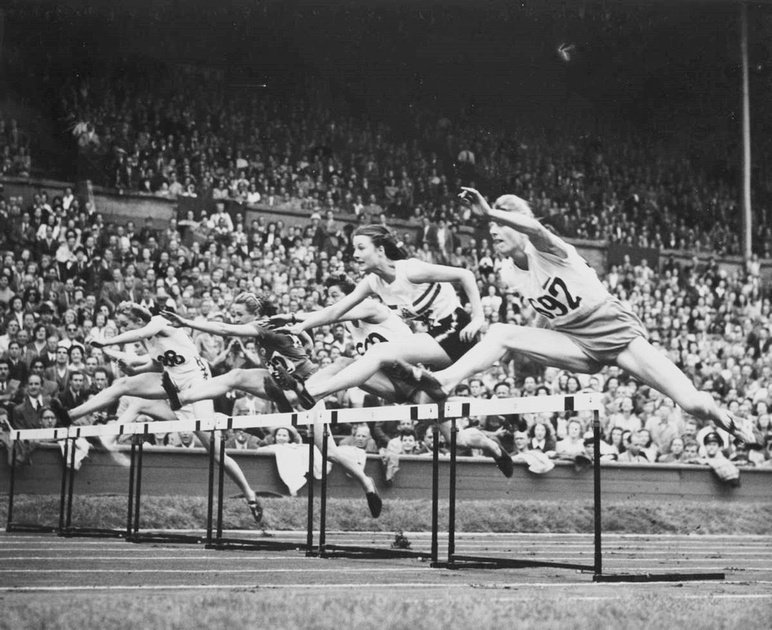 Women's Final Of 80 Metres Hurdles Olympic Games London 1948