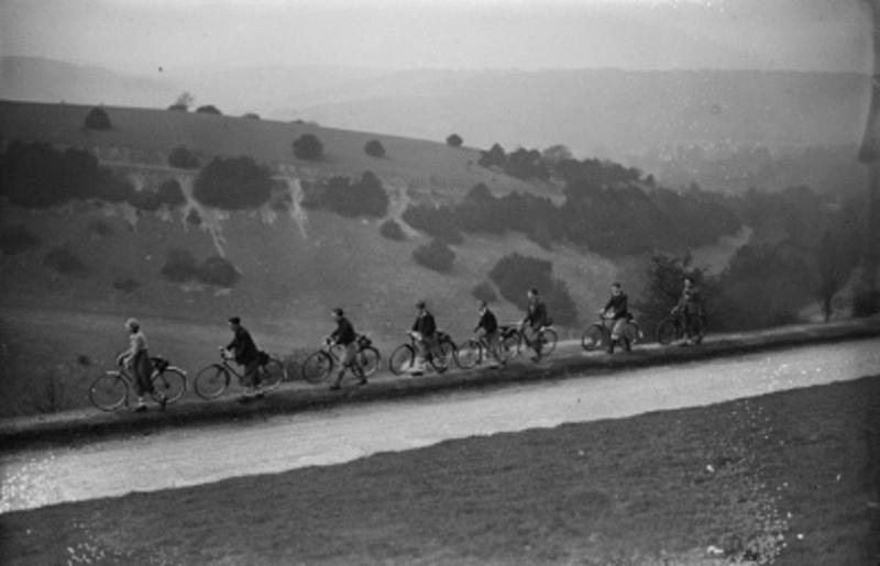 Cyclists At Boxhill