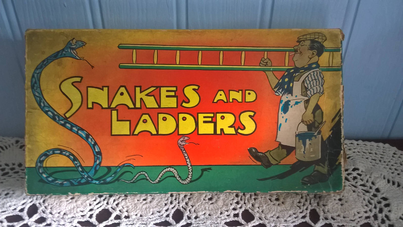 Vintage 1930s Snakes And Ladders