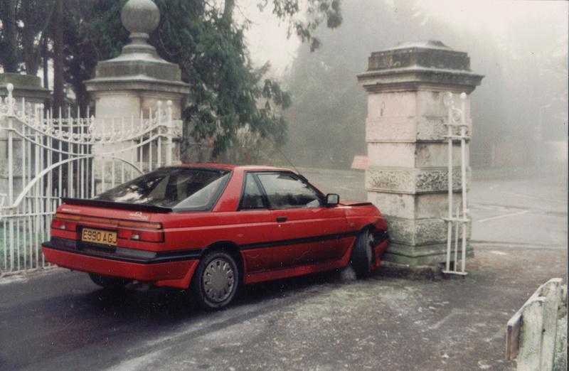 Car Accident At Ashtead Park Gates c.1990