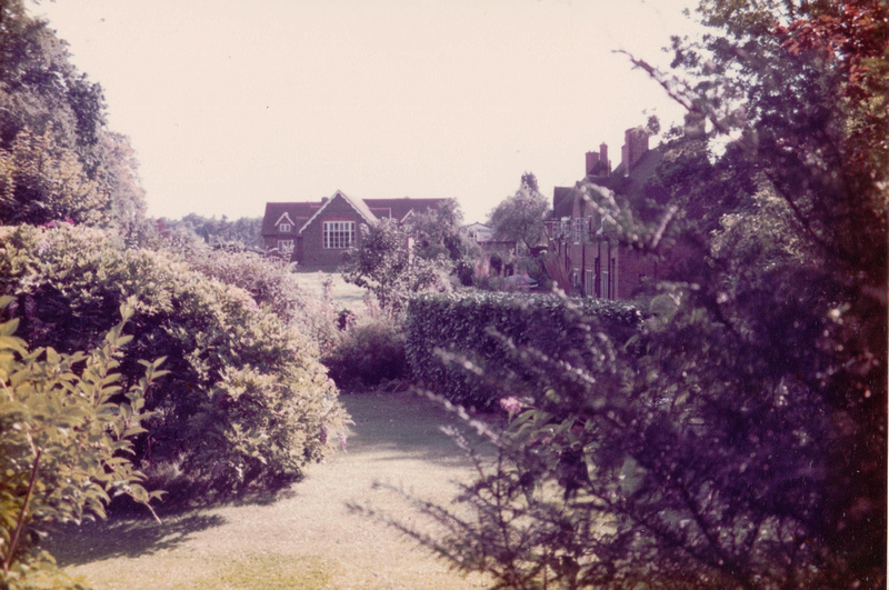 St Giles C Of E Infant School And Howard's Close Taken From The Garden Of West Lodge 1990s