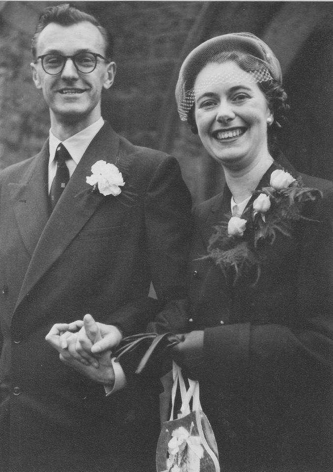 Wedding Of Joyce Harley And Denis Harry Benner 12th Dec 1953