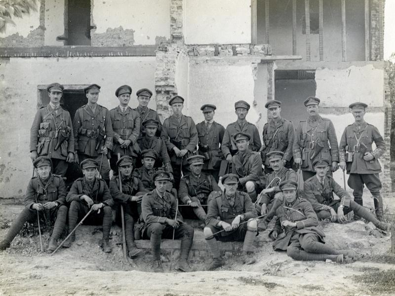Officers Of The 3rd London Regiment Estaires La Bassée Road, France