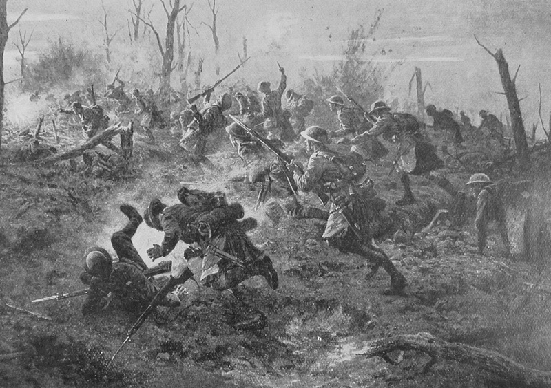 The Re-Capture Of Sanctuary Wood By The Black Watch
