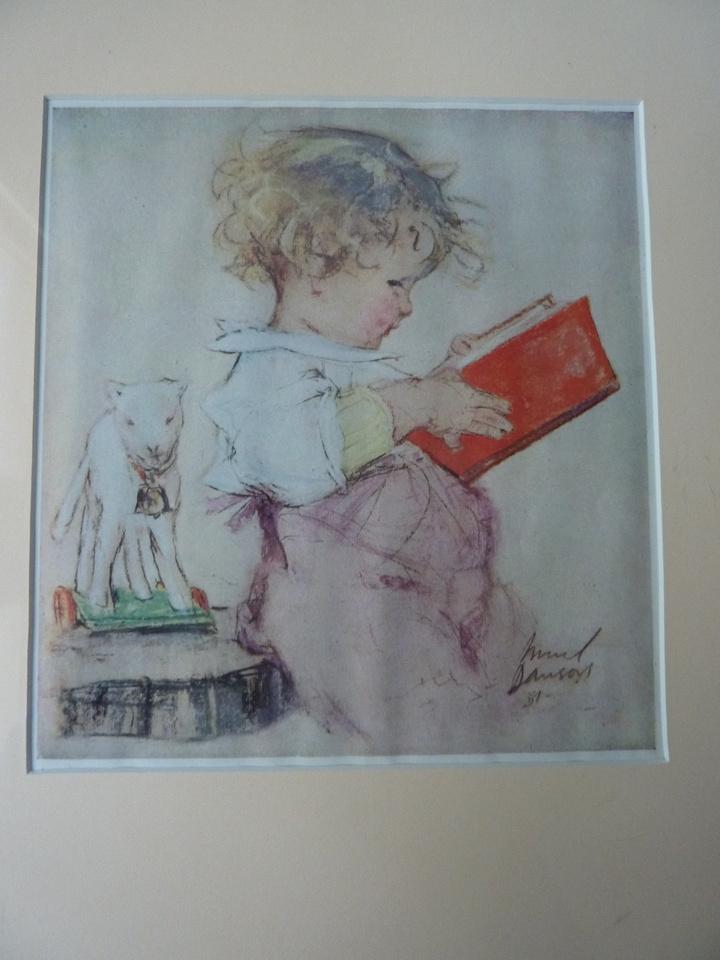 Vintage Framed Muriel Dawson Nursery Print