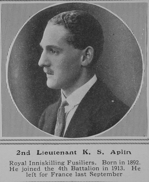 UK Photo And Social History Archive: A &emdash; Aplin K S 2nd Lt Royal Inniskilling Fusiliers The Sphere 28th Nov 1914