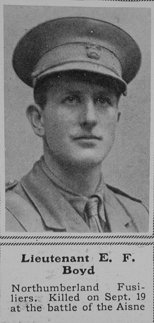 UK Photo And Social History Archive: B &emdash; Boyd E F Lt Northumberland Fusiliers The Sphere 10th Oct 1914