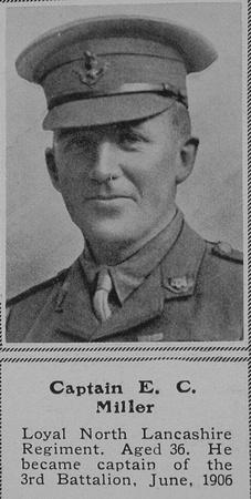 UK Photo And Social History Archive: M &emdash; Miller E C Captain Loyal North Lancs Regiment The Sphere 21st Nov 1914