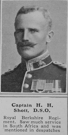 UK Photo And Social History Archive: S &emdash; Shott H H Captain DSO Royal Berkshire Regiment The Sphere 1st Oct 1914
