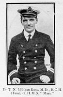McBean Ross J N Surgeon MD HMS Mars Royal Navy Ross-Shire Roll Of Honour
