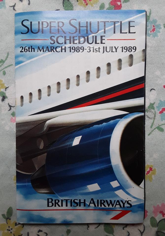 British Airays Super Shuttle Timetable