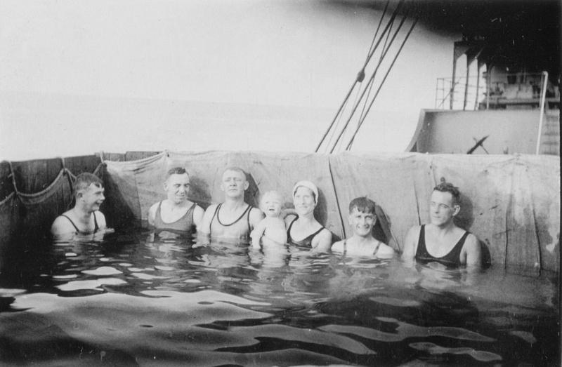 Enjoying A Swim In A Bathing Pool On A Boat