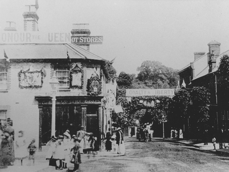 Queen Victoria's Golden Jubilee Sutton High Street  Surrey 1887