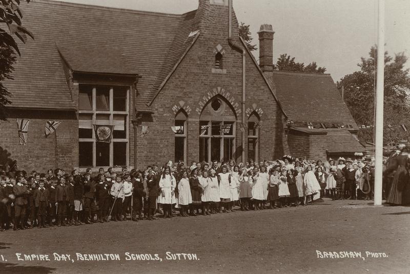 Empire Day Benhilton School Sutton c.1910