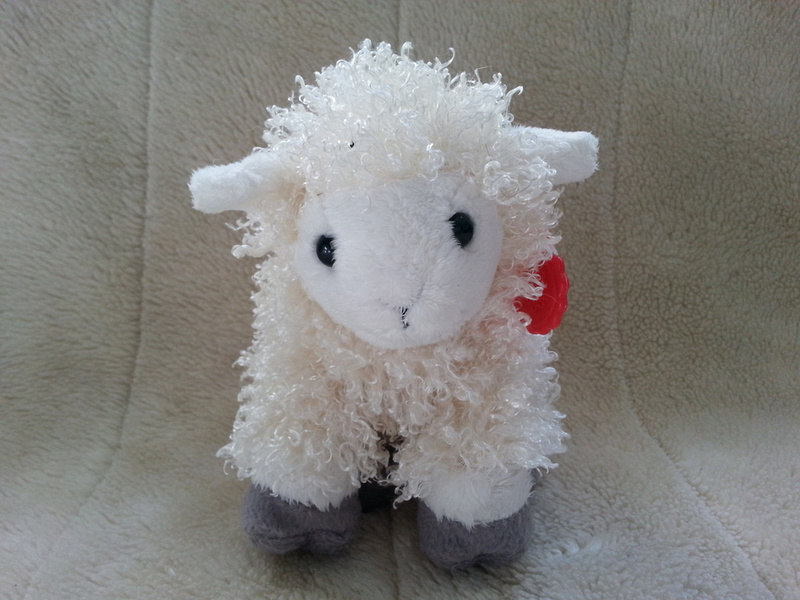 Keel Toys Cuddly Lamb Sheep With Plastic Tag