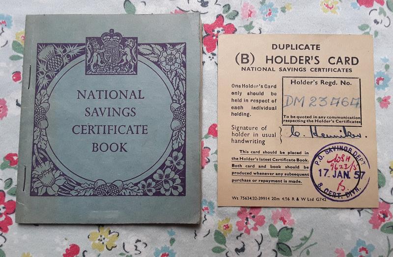 National Savings Certificate Book Mr C Henniker 333 Martin Way Raynes Park London SW20 1957