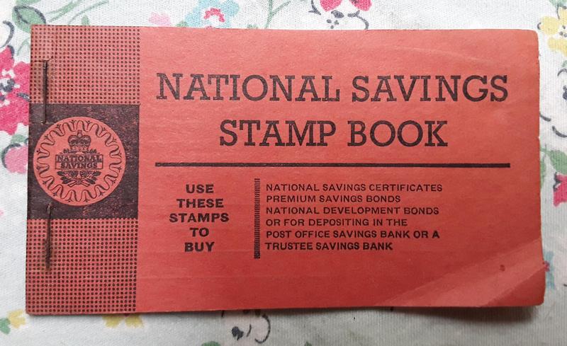 National Savings Stamp Book Princess Anne Stamps 1950s