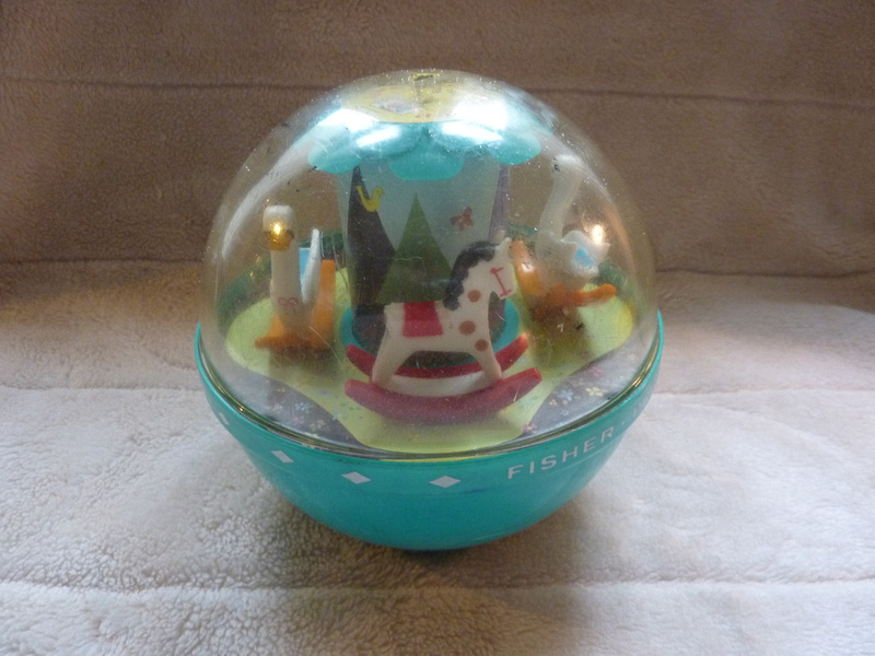 Vintage Fisher Price Roly Poly Chime Ball 1970s Retro Toy
