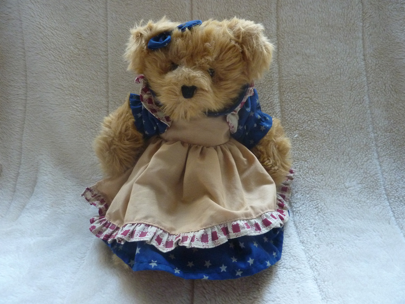 "Russ Bear Amelia 10"" Soft Plush Dressed Teddy Bear"