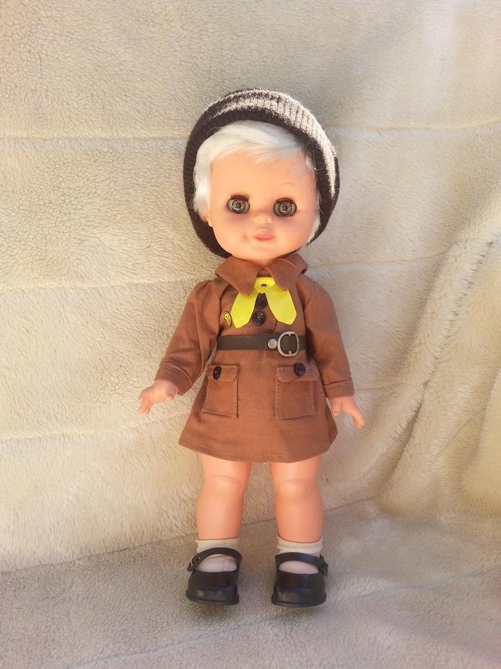 Vintage Burbank 13 Inch Doll In Brownie Uniform