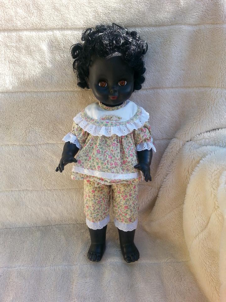 Vintage Burbank 17 Inch Black Doll