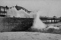 Breakers At Brighton During The Storms During The Winter Of 1914-1915