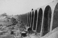 The Brackley Viaduct Under Construction 1896