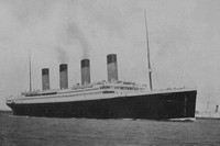 The Titanic As She Sailed From Southampton 10th April 1912