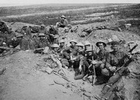 Welsh Guards In A Trench At Guillemont