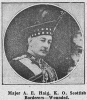 Haig A E Major Kings Own Scottish Borderers The Graphic 5th Sep 1914