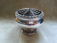 Vintage Ianthe Large Silver Plated Rose/Posy Bowl