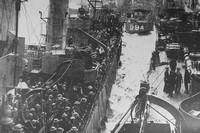 Men Of The BEF Arriving Safely Back In A British Port From Dunirk Escorted By Units Of The Royal Navy