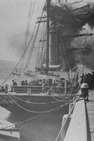 Captain Scott's The Terra Nova Leaving Port Chalmers New Zealand On The Last Stage Of Her Journey