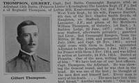 Thompson G Captain 13th London Regiment Obit Part 1 De Ruvignys Roll Of Honour Vol 1