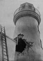 Damage Done To Scarborough Lighthouse During Naval Bombardment