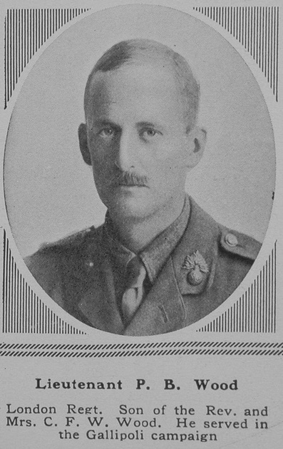 UK Photo Archive: W &emdash; Wood P B Lt 7th Royal Fusiliers The Sphere 16th June 1917
