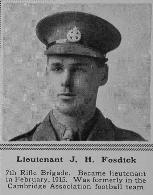 UK Photo Archive: F &emdash; Fosdick J H Lt 7th Rifle Brigade The Sphere 16th Oct 1915