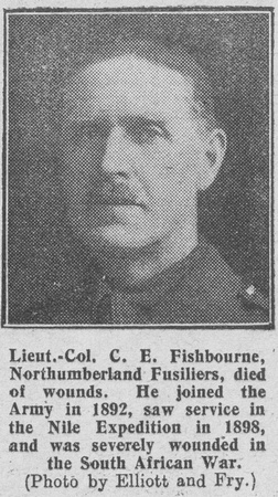 UK Photo Archive: The Graphic F &emdash; Fishbourne C E Lt Col 8th Northumberland Fusiliers The Graphic 12th Oct 1916