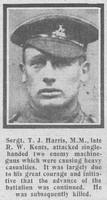 Harris T J Sergt VC MM 358 6th Royal West Kent Regiment The Graphic 23rd Oct 1918