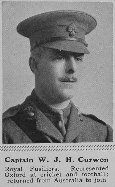 UK Photo Archive: C &emdash; Curwen W J H Captain 3rd Royal Fusiliers The Sphere 12th Jun 1915