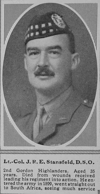 UK Photo Archive: S &emdash; Stansfeld J R E Lt Col DSO 2nd Gordon Highlanders The Sphere 20th Nov 1915