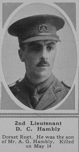 UK Photo Archive: H &emdash; Hambly D C 2nd Lt 6th Dorset Regt The Sphere 14th July 1917