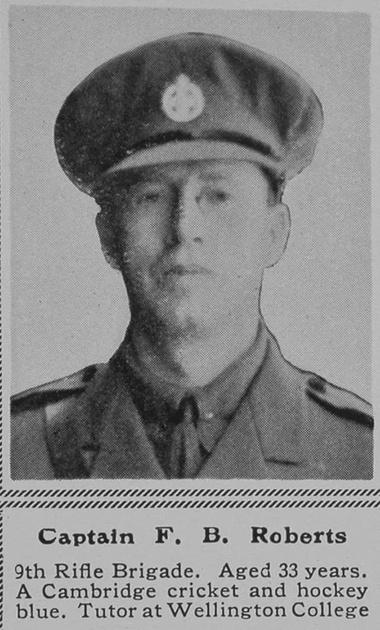 UK Photo Archive: R &emdash; Roberts F B Captain 9th Rifle Brigade The Sphere 18th Mar 1916